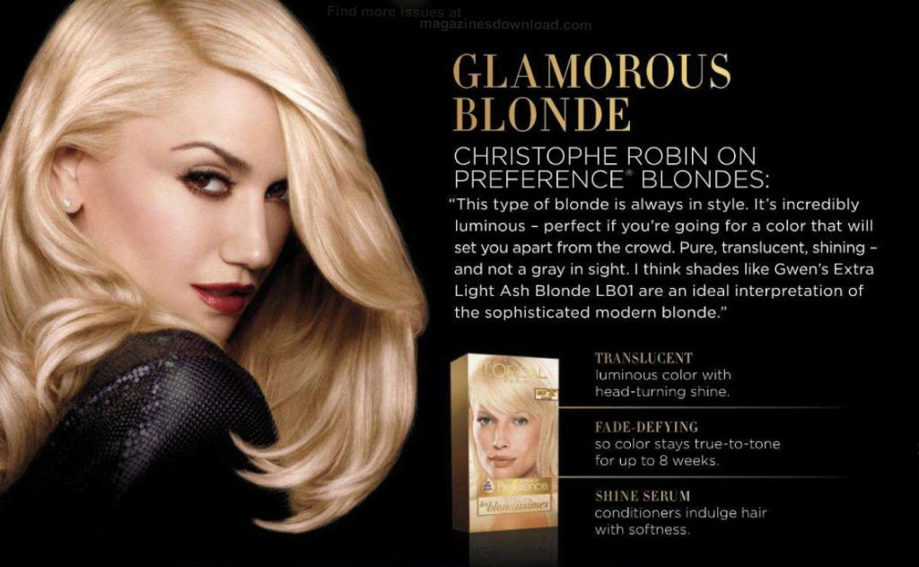 New Gwen Print Ad For Loreal Superior Preference Hair Color