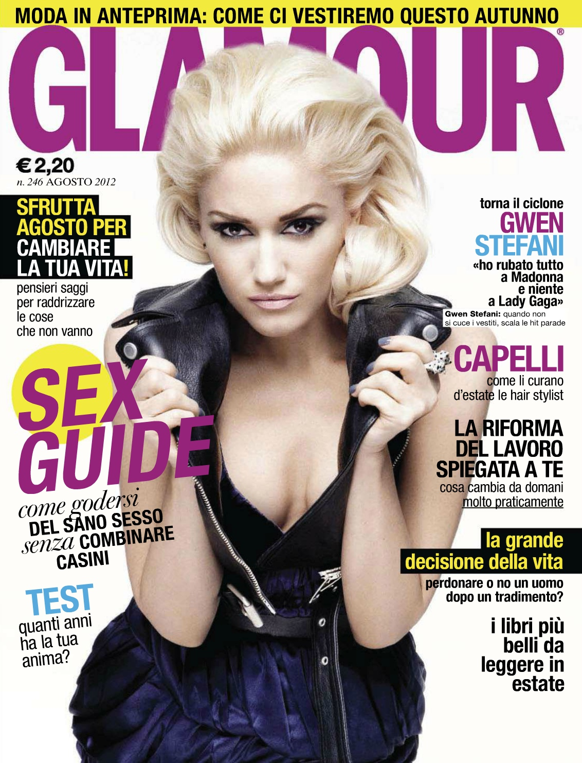 Gwen on Glamour Italy August 2012 – Everything In Time