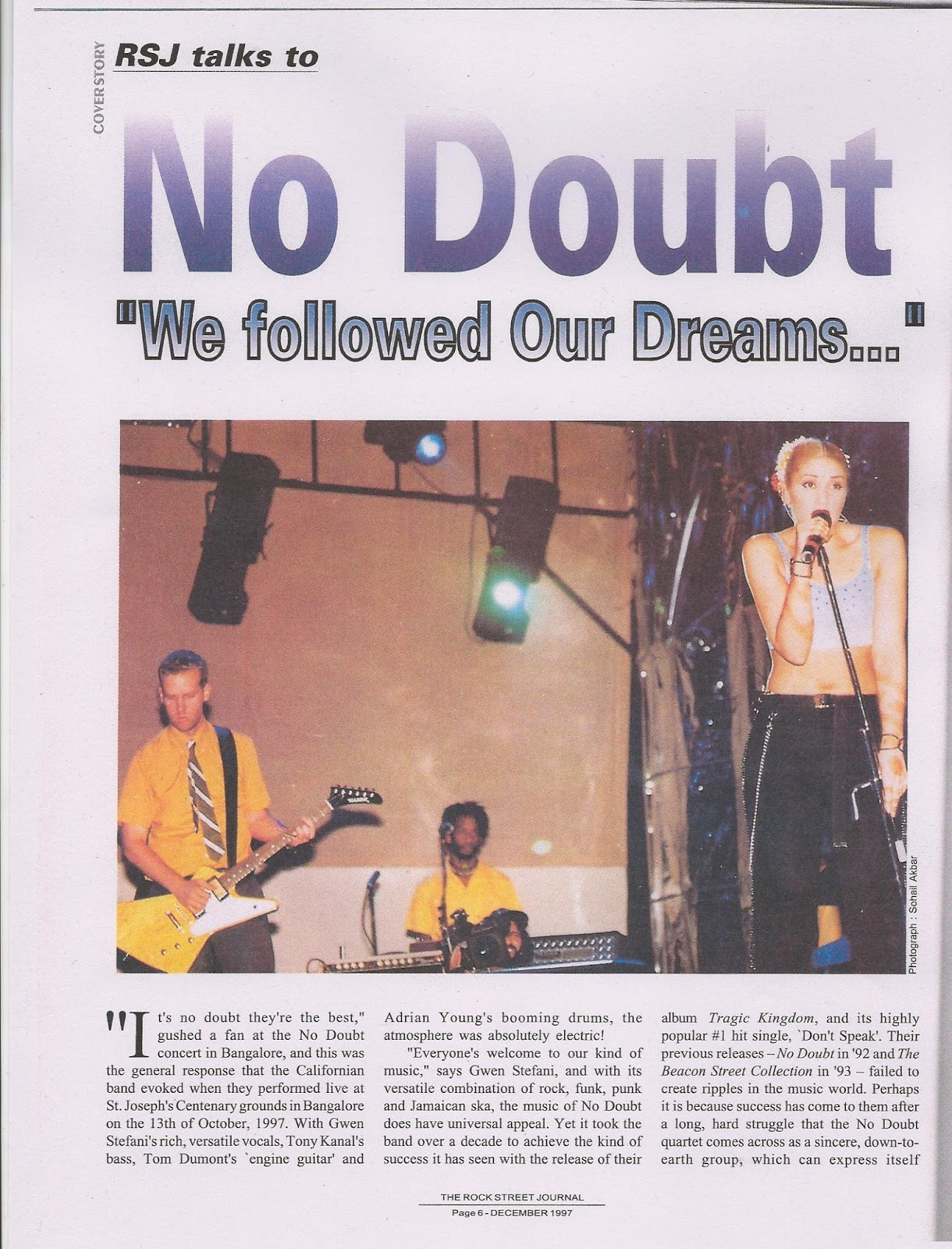 No Doubt Interview