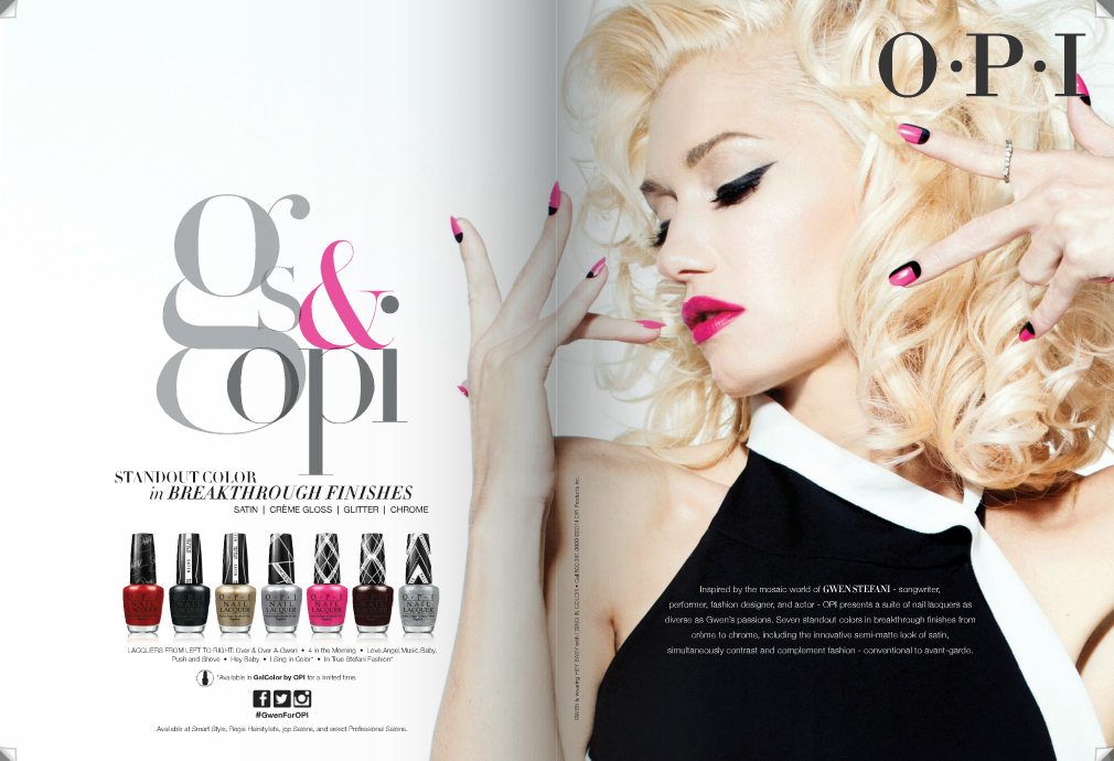 Gwen For OPI Ad Featured In January Issue Of Cosmopolitan Magazine