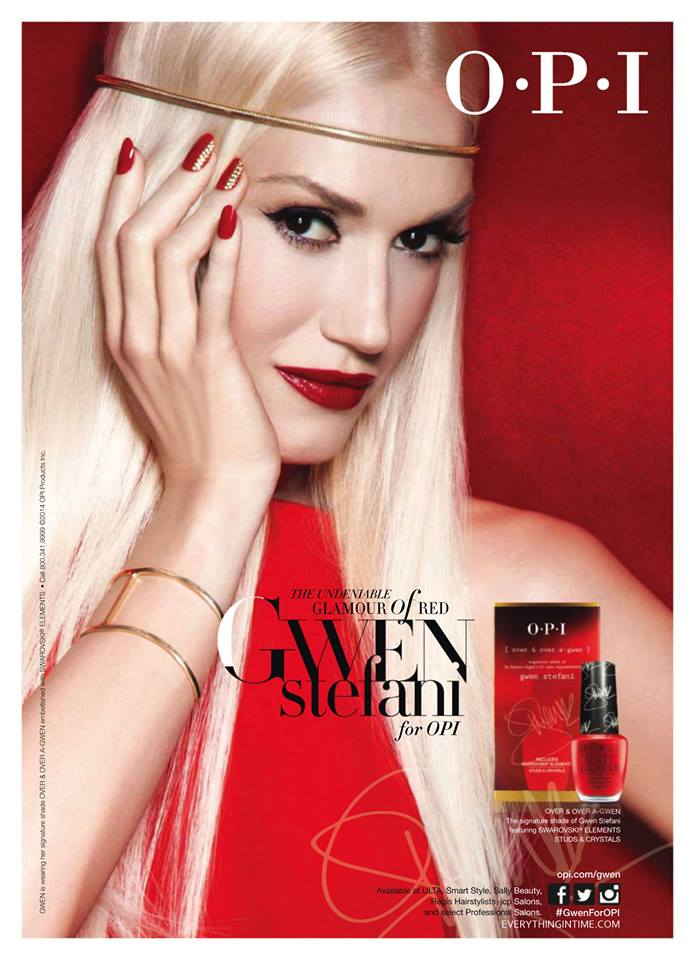 OPI Over A Gwen Print Ads In February 2014 Magazines