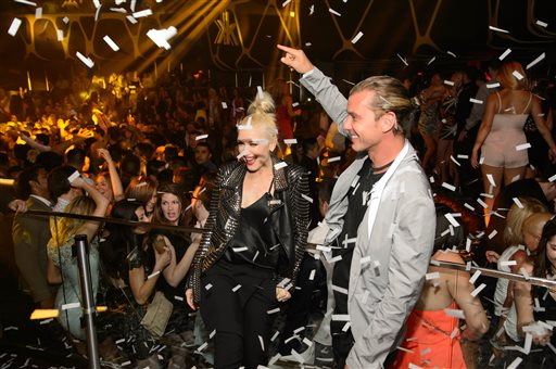 Gwen Stefani and Gavin Rossdale at Hakkasan Las Vegas Anniversary celebration