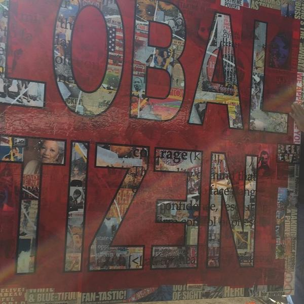 We're here #globalcitizen gx