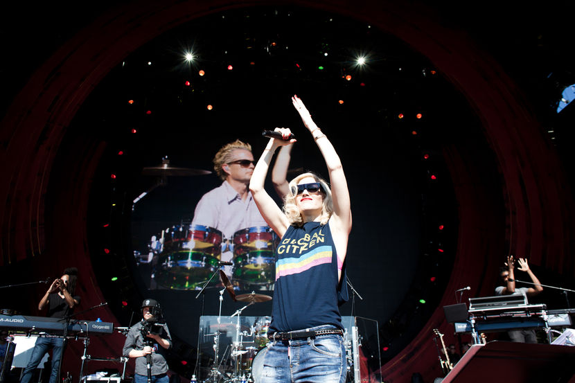 Gwen Stefani and No Doubt along with special guest, Sting rehearse for the Global Citizen Festival on The Great Lawn in Central Park, New York on Sept. 26, 2014. Photo by Alex Welsh for MSNBC