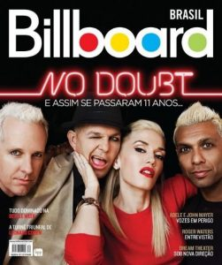 No Doubt, Gwen Stefani, Tony Kanal, Adrian Young, Tom Dumont - Billboard Magazine Cover [Brazil] (September 2012)